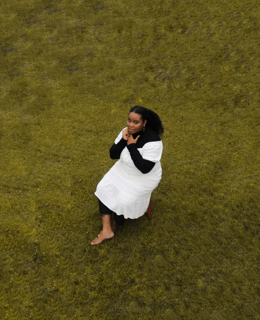 Black girl in a field